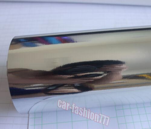 DIY Flat Glossy Mirror Chrome Vinyl Film Sticker for Car Phone Laptop Wrap CF
