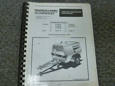 Ingersoll Rand P 100 130 165 175 185 W J D Parts Operator