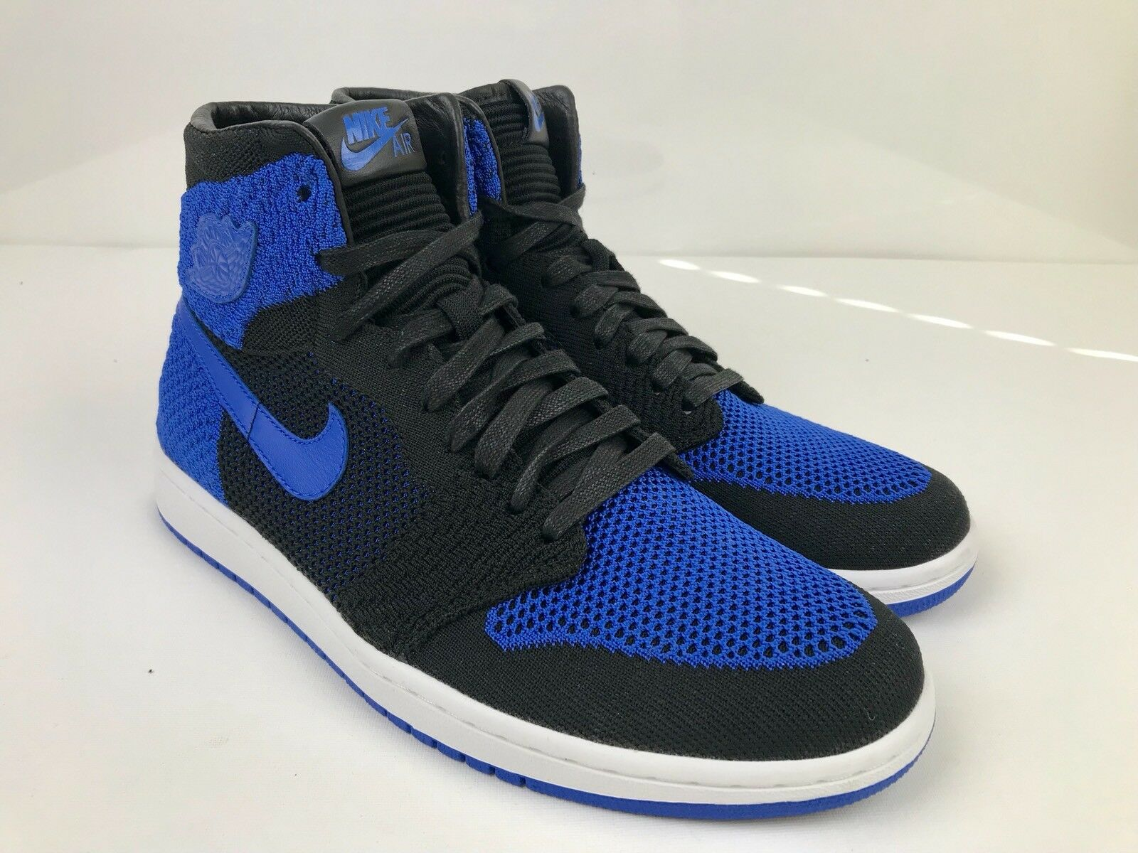 Nike Air Jordan 1 Retro High Flyknit Game Royal Size10 Nero/Blue 919704-006