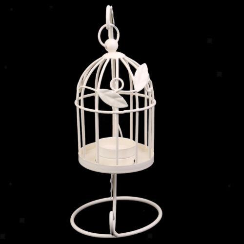 Blesiya Birdcage Chic Retro Hanging Stand Candle Holder Candlestick White
