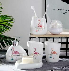 Flamingo 6pcs Bathroom Accessories Set