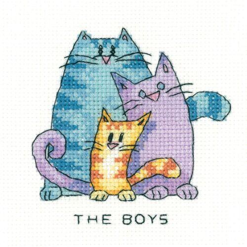 The Boys Heritage Crafts Cross Stitch Kit