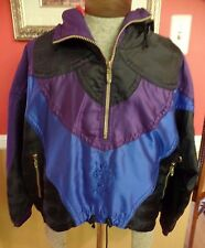 Vtg 80s 90s Descente PURPLE SKI Womens SZ 8 Snowboard Coat Jacket Pullover  Hood