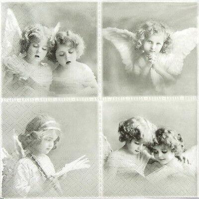 Mix 4x Paper Napkins for Decoupage Decopatch Sagen Vintage Angels