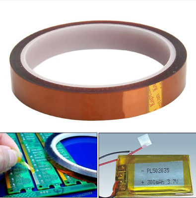 50mm 100ft Kapton Tape BGA High Temperature Heat Resistant Polyimide Gold ☆
