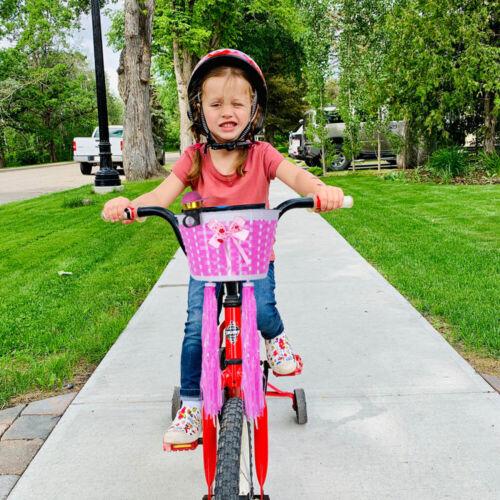 4PCS Handlebar Basket Bell Set Plastic DIY Weave Basket Bike Bell Decor for Kids