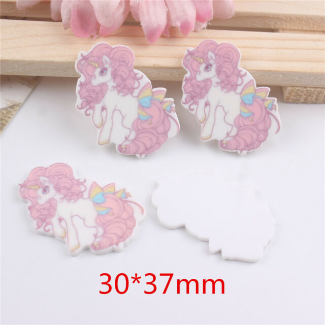 5pcs/lot resin cabochon accessories hotsaled planar resin unicorn with bowE9C