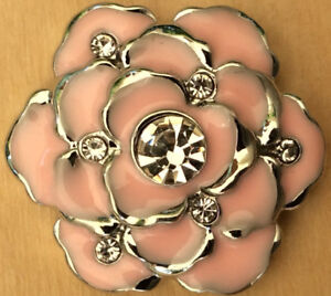 Snap Chunk Button 20MM Flower Charm For Ginger Snaps Style Jewelry ~