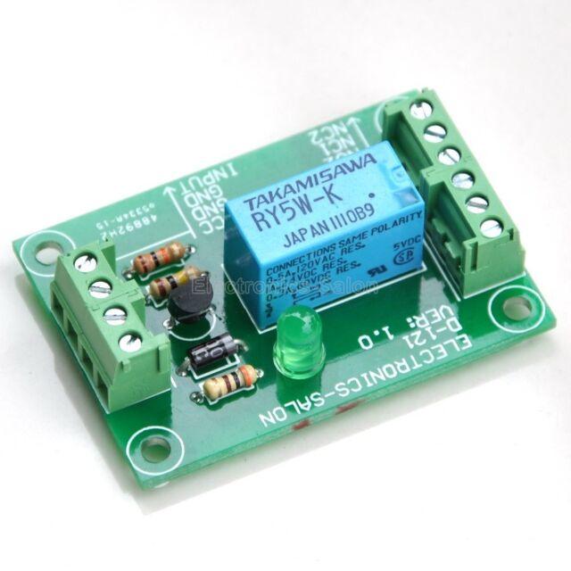 DPDT Signal Relay Module Board, 5Vdc, TAKAMISAWA RY5W-K relais.