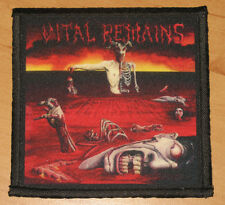 """VITAL REMAINS """"LET US PRAY"""" silk screen PATCH"""