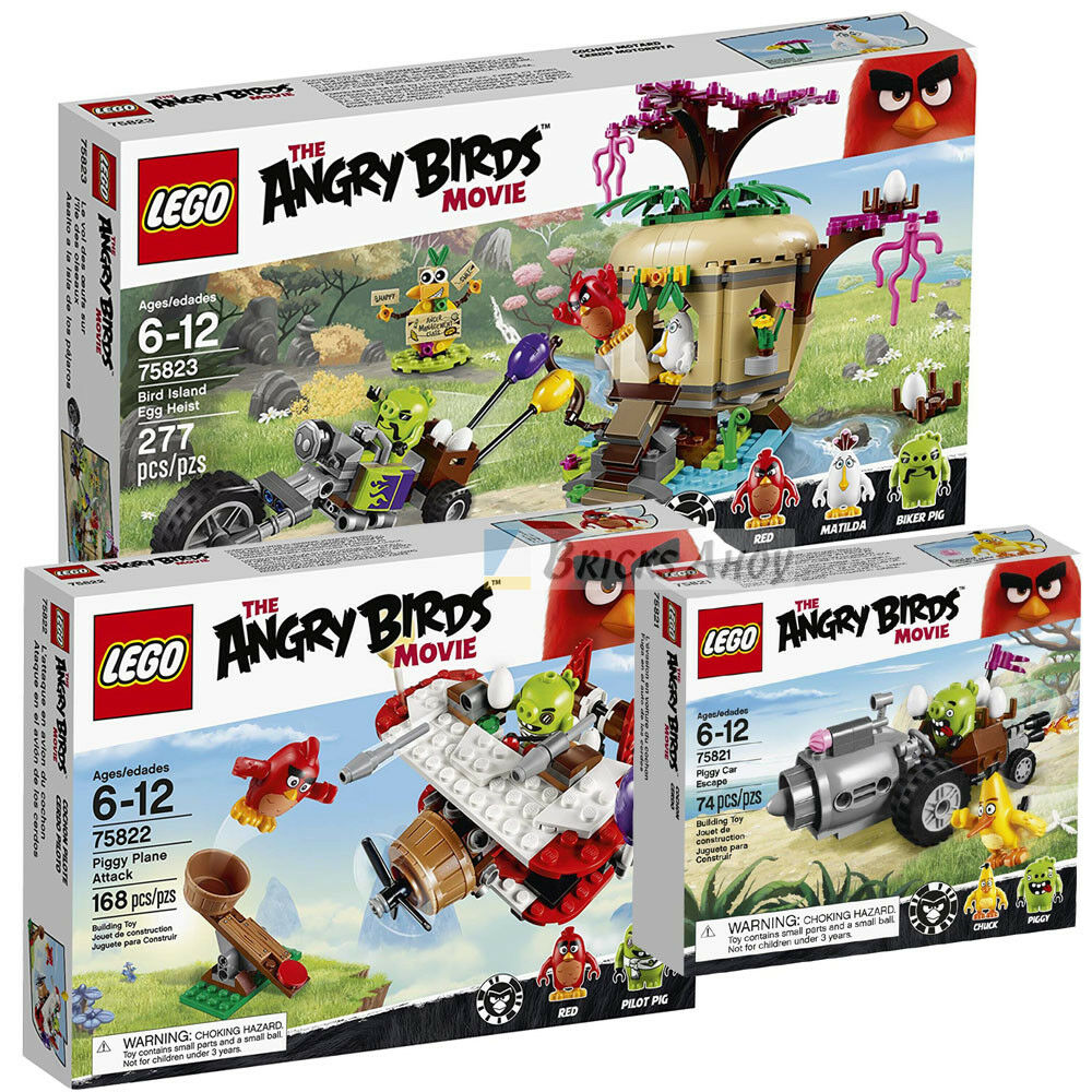 LEGO 75821   75822   75823 - Angry Bird - CAR   PLANE   BIRD ISLAND HEIST - New