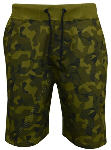 Mens Summer Sports Running GYM Training Elastic Jogging Fleece Camo Print Shorts