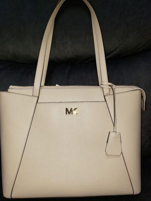 aaefee9600f6 NWT Michael Kors Maddie Soft Pink Leather Rose Gold HW Satchel Shoulder Tote  Bag