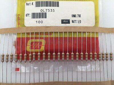 Carbon Film Resistors 1//2W Resistor 5/% 10 PCS 1.6K ohm 0.5Watt Blue