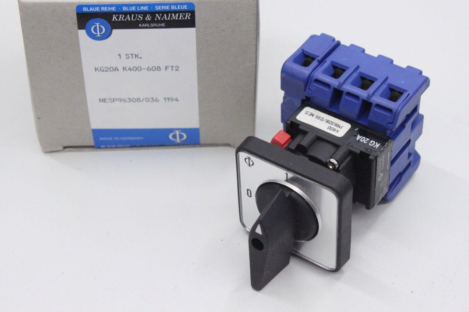 KRAUS/&NAIMER KG20A K400 608 FT2 Schalter Hauptschalter KG20AK400-608FT2 OVP