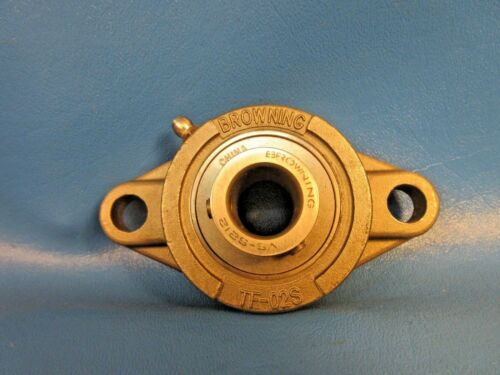 "1VM54 Setscrew Locking 3//4/"" Bore Browning SF2S-S212 2-Bolt Flange Bearing"