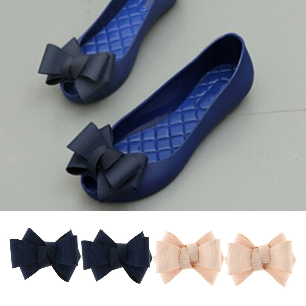 4x Shoe Clips DIY Bridal High Heel Shoe Charms Buckle Accessories 2 Colors