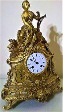 Bronce Antiguo Francés Ormolu Mantel Clock por Japy Freres