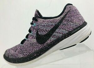 first rate b98c5 81a42 Image is loading Nike-Flyknit-Lunar-3-Training-Shoes-Black-Purple-