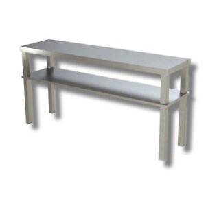 Estanteria-de-160x35x70-Soporte-doble-mesa-de-apoyo-de-acero-inoxidable-RS8057