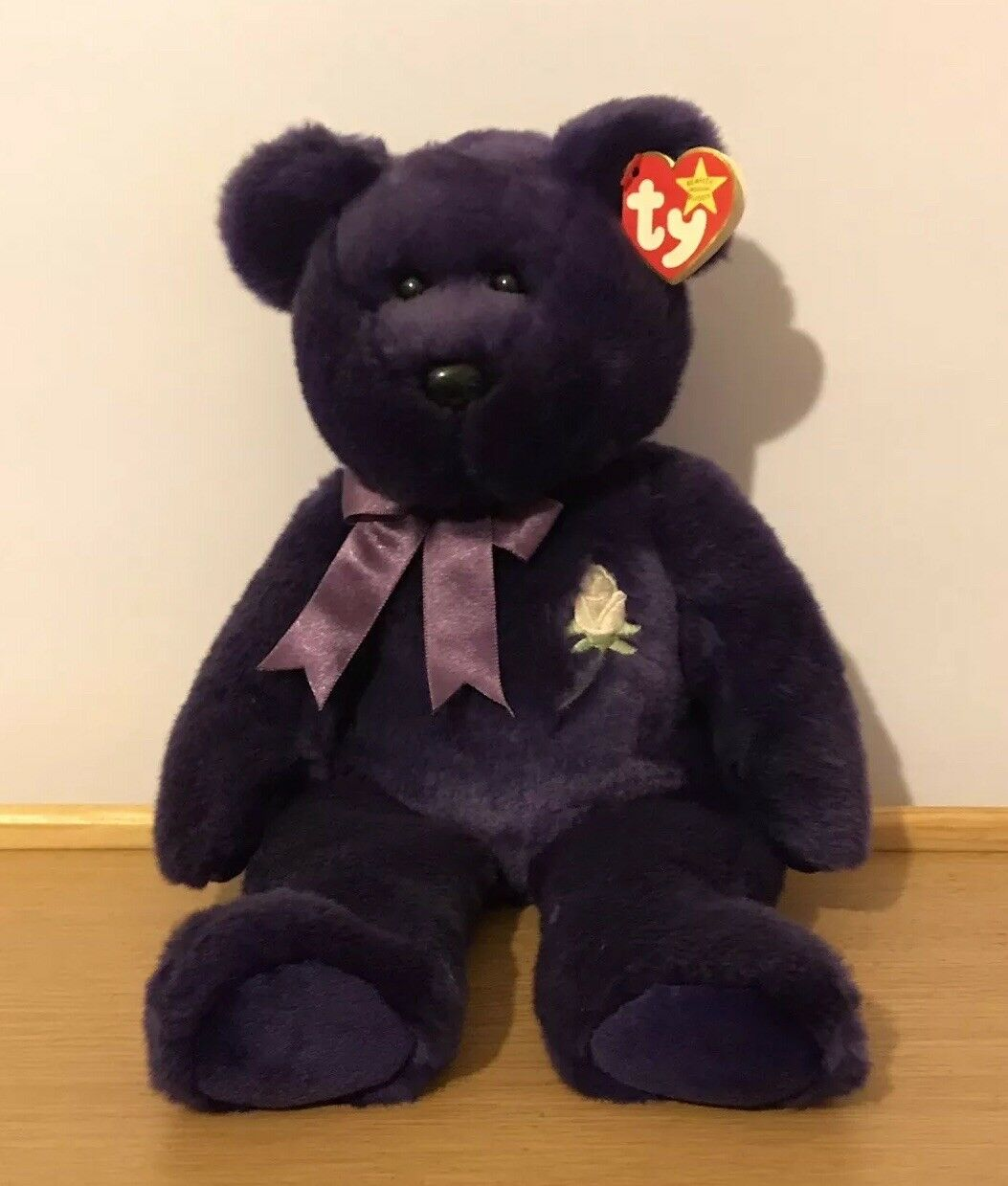 "Ty Beanie Buddies 1998 Princess Diana Teddy Bear 14"" Tall Collectable Brand New"