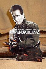 "Expendables 2 Arnold Schwarzenegger Color Figure Tabletop Display Standee 10.5"""