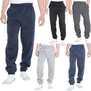 Homme-Pantalon-Double-Polaire-Survetement-Bas-Jogging-Decontracte-Sport-Gym