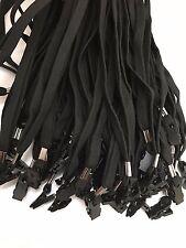 WHOLESALE LOT of NEW 100 PCS BLACK ID BADGE LANYARD BULLDOG CLIP FLAT NECK STRAP