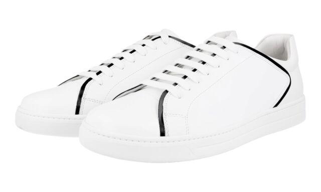 707eda0a43ed Authentic Luxury PRADA SNEAKERS Shoes 4E2569 White US 12 EU 45 45 5 ...