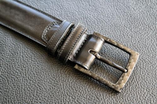 2belt Airport friendly business leather belt with 100/% carbon fiber buckle