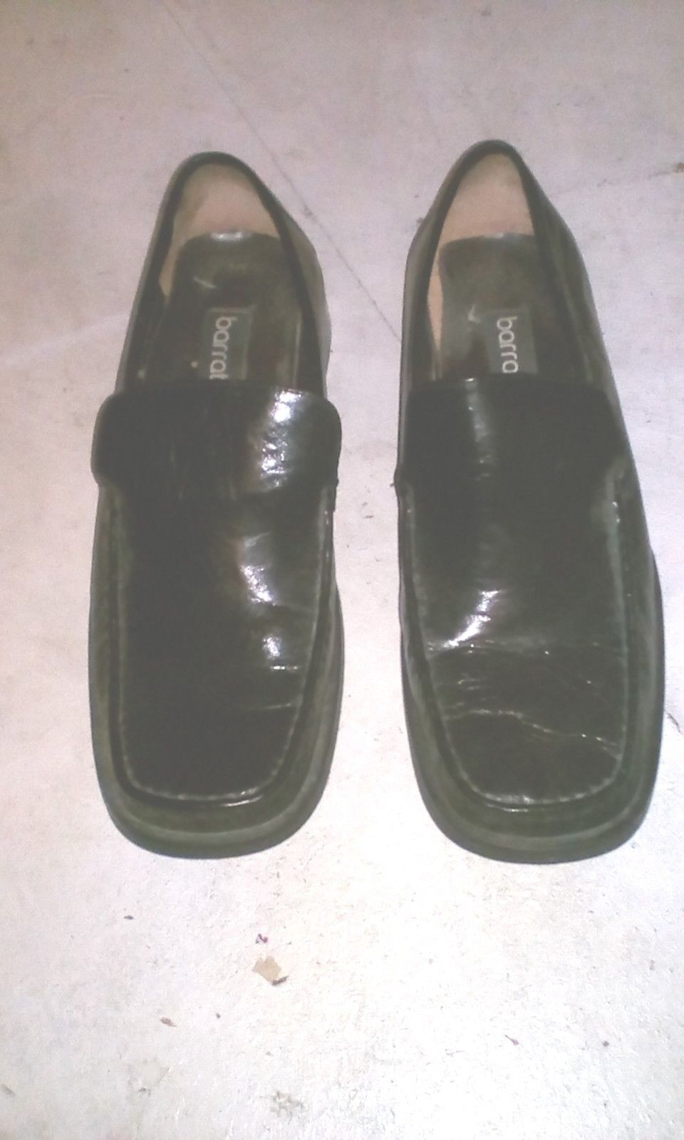 Mens Barratts leather loafers size 10 black