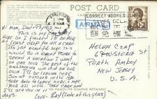 Hong Kong CHINA SG#205(single frank)KOWLOON 11/MAR/1967 postcard view