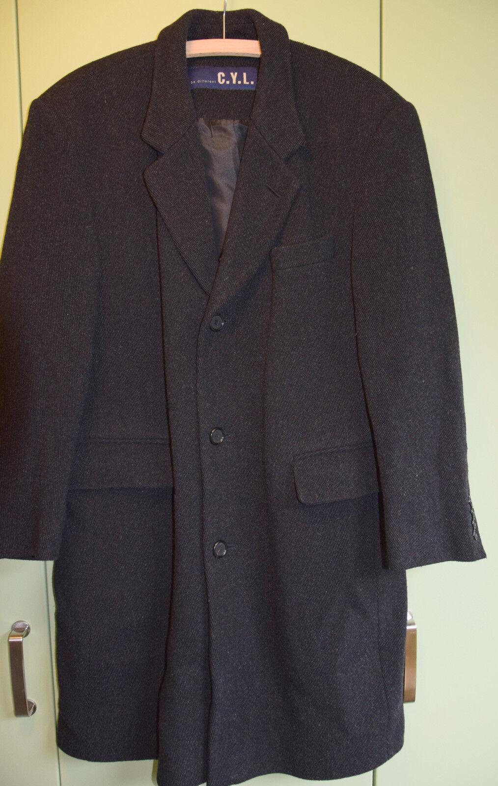 C.Y.L. Mantel Wolle black Gr.48