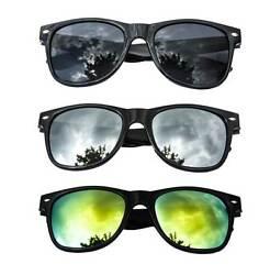 Schwarze Sonnenbrille Nerdbrille Hornbrille Silber Gold verspiegelt