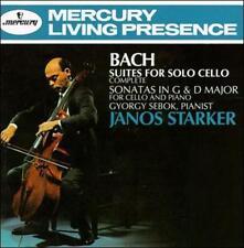 BACH: SIX SUITES for Solo Cello - SONATAS IN G MAJOR & D MAJOR Piano NEW CD