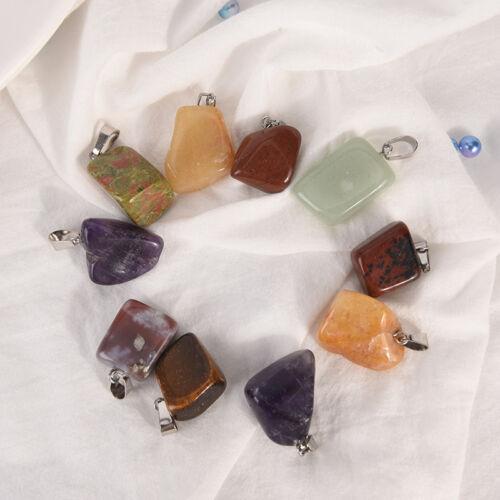Piedra Natural Cristal Cuarzo Curación Chakras Colgante Collar para Hazlo tú mismo Joyería Reino Unido