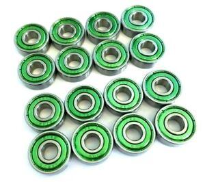 16-Confezione-608-Abec-3-Xtreme-Skateboard-Valutato-Cuscinetti-Scooter-UK-Seller