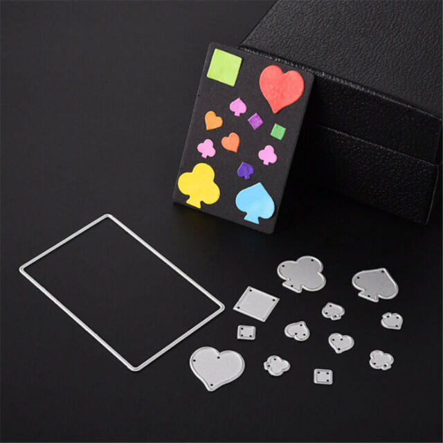 Poker Playing Cards Cutting Dies Stencils DIY Scrapbook Album Card Making Craft*