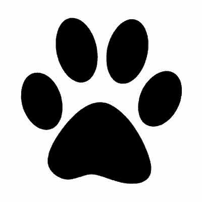 LARGE  PAW PRINT STICKERS  Car Wall Stickers Decals Graphics Dog  COLOURS
