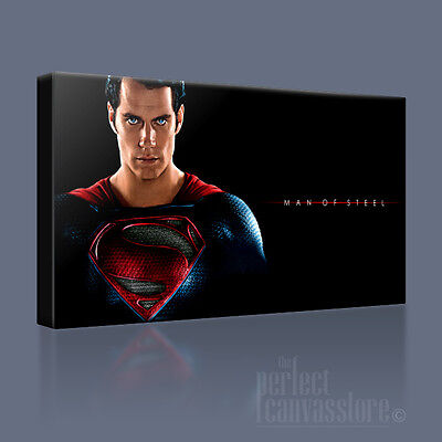SUPERMAN MOS AWESOME HIGH IMPACT ICONIC CANVAS ART PRINT PICTURE ArtWilliams #14