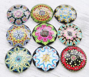 Glas Cabochons Bilder 20mm 5//10 Stück SERAJOSY Glascabochons