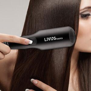 MCH Faster Heating Hair Irons Ionic Massager Straightening Hair Brush + Gloves