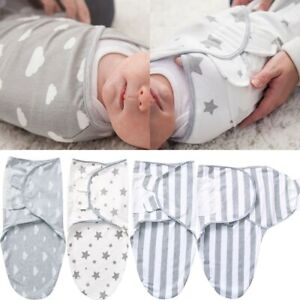 Baby Infant Swaddle Wrap Blanket Sleeping Bag For 0-6 Month Boy Girl Pure Cotton