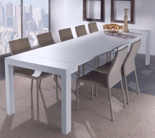 Tavolo per cucina e Ingresso Consolle allungabile da 3 metri colore Bianco