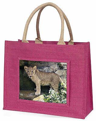 Löwenjunges Große Rosa Einkaufstasche Weihnachten Geschenkidee, AT-26BLP