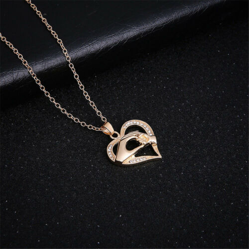 Fashion Mom Mother/&Daughter Best Friend Mother/'s Day Heart Pendant Necklace Gift