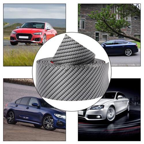 5CMx2.5M Fibre de Carbone Caoutchouc Voiture Bande Bordure Autocollant Porte Sill Protector