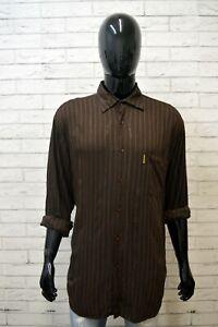 Camicia-Uomo-ARMANI-JEANS-Taglia-3XL-Polo-Camicetta-Manica-Lunga-Shirt-Men-Righe