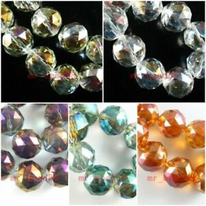 10pcs 10x15mm Faceted Glass Crystal Teardrop Loose Spacer Necklace Earring Beads