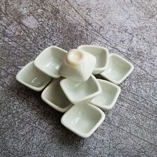 New 30x20 mm White Round Bowls Dollhouse Miniatures Ceramic Supply Deco 12556